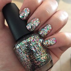 It's like a party in a bottle  OPI in 'Chasing Rainbows' | opi | nails | beauty | glitter | sparkles