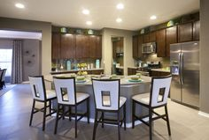 Kitchen Model Home Decorating, Model Homes, Table, Kitchens, Furniture, Kitchen, Tables, Home Kitchens, Home Furnishings
