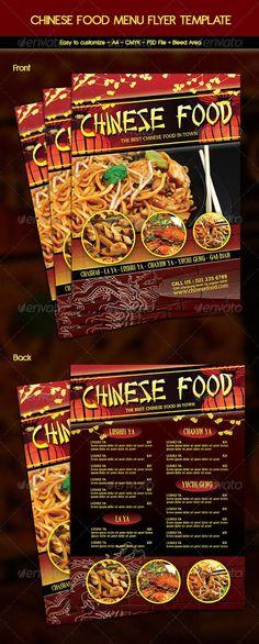 Chinese Food Menu Flyer Chinese food menu, Food menu and Menu - menu flyer template
