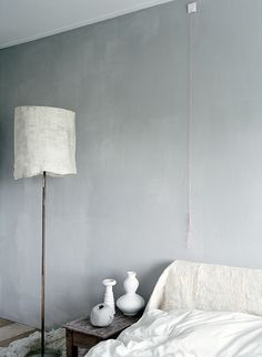 tinted plaster walls.