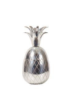 Merchant Archive Small Zinc Pineapple Small Narrow Bathroom, Pineapple Ice Bucket, Jar, Gemstones, Archive, Silver, Decor, Sparkle, Decoration