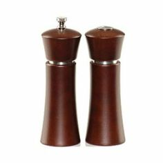 """Chef Specialties Company 06880 6.8 in. Pueblo Mocha Pepper Mill and Salt Shaker Set by Chef Specialties Company. $23.49. Design is stylish and innovative. Satisfaction Ensured.. Great Gift Idea.. Manufactured to the Highest Quality Available.. 6.8"""" Pueblo Mocha Finish Pepper Mill with Silver Trim, Stainless Steel Grinding Mechanism. Made in USA"""
