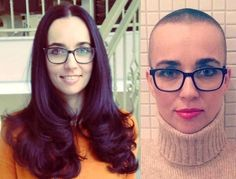 beautiful hair changes in the best hair salons: Inspire you for the new year We have selected for you the most beautiful hair transformations in the best beauty salons to give you a better idea about the latest trends. Before After Hair, Before And After Haircut, Buzz Cut Women, Buzz Cuts, Short Hair Cuts, Short Hair Styles, Bald Girl, Best Hair Salon, Extreme Hair