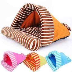 Small Pet Dog Cat Mat Sleeping Bag Kennel House Nest Cushion Warm Soft Bed