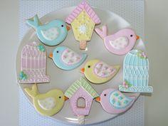 New baby girl cake bird ideas Bird Cookies, Cute Cookies, Easter Cookies, Sugar Cookies, Baby Girl Cakes, Cake Baby, Baby Diy Projects, Dessert Decoration, Baby Shower Cookies