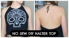no sew diy halter top