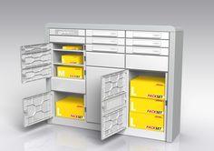 So soll die Paketbox von DHL für Mehrfamilienhäuser aussehen - Deutsche Post, DHL