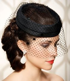 Vintage hats with veils!