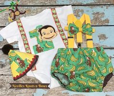 Boys Curious George Birthday Outfit, Boys Cake Smash Outfit – Needles Knots n Bows Birthday For Him, 1st Birthday Outfits, 1st Boy Birthday, Cake Smash Outfit Boy, Curious George Birthday, Birthday Cake Smash, Cake Smash Photos, Babies First Year, Diaper Covers