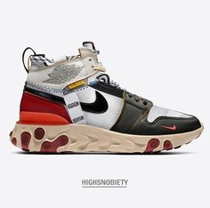 This is how the Air Jordan 1 x would look like if it received the ISPA treatment. Mens Fashion Shoes, Sneakers Fashion, Shoes Sneakers, Men's Shoes, Adidas Boots, Baskets, Sneaker Boots, Custom Shoes, Swagg