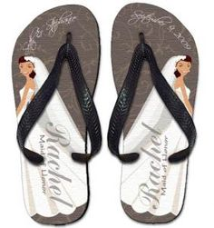 f819995f59caac Personalized Elegant Bride Flip Flops Bridal Shower Gifts For Bride