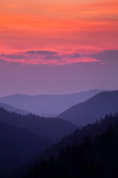 "beauty-rendezvous: "" (via Smoky Mountain Sunset by Andrew Soundarajan) """