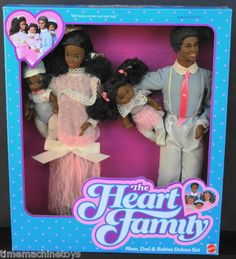 RARE 1984 Black Heart Family Steffie Original 4 Doll Gift Set AA | eBay