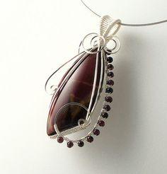 Mookaite and Garnet pendant | sold | dawnblairjewelry | Flickr
