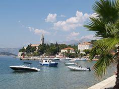 Sleepy island of Lopud, pedestrian-only middle island of the Elafiti Peninsula, Croatia. Read more: TheTravelingGardener.com