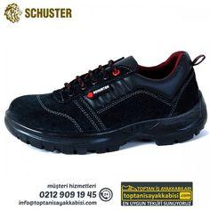 Schuster iş ayakkabısı Süet Deri SP-106 Siyah