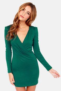 Foreign Film Hunter Green Dress at LuLus.com! #lulus #holidaywear