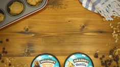 Make your next ice cream sundae in an edible cookie cup! You've never had a sundae quite like this before. Try it with all your favorite Ben & Jerry's flavors! No Bake Desserts, Easy Desserts, Delicious Desserts, Dessert Recipes, Yummy Food, Dessert Simple, Yummy Treats, Sweet Treats, Edible Cookies