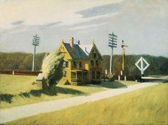 "urgetocreate: ""Edward Hopper, Railroad Crossing, 1922–23 """