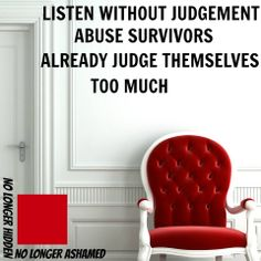 Be careful to not judge our actions too harshly - we really do judge ourselves too harshly as it is.  http://reclaimingalife.wordpress.com
