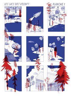 Les lacs des vosges - french illustration