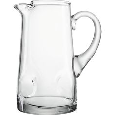 Impressions Pitcher in Pitchers, Decanters | Crate and Barrel