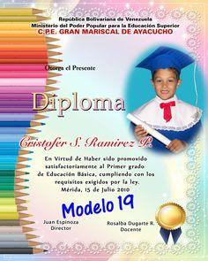 Diplomas Preescolar | Fotografia y Diseño
