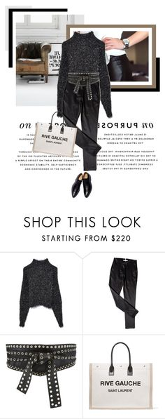 """""""Casual Monday"""" by veronicamastalli ❤ liked on Polyvore featuring American Eagle Outfitters, Isabel Marant, Elie Saab and Yves Saint Laurent"""