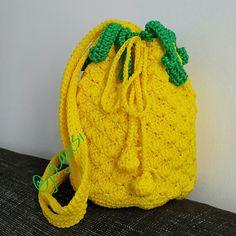 Crochet pineapple bag cross body.