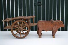 1890s Folk Art Wooden Pull Toy