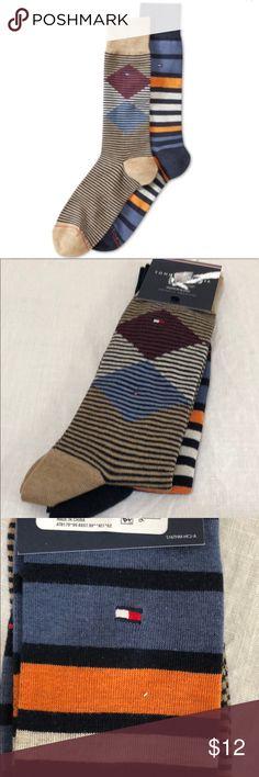 Tommy Hilfiger Men's 2-pk. Patterned Socks Tommy Hilfiger Men's 2-pk. Patterned Socks With Tags 7-12 Tommy Hilfiger Underwear & Socks Casual Socks