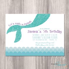 Mermaid Birthday Invitation   Little Mermaid by StyleswithCharm, $12.00