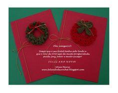 Cartões para o Natal - Mini Guirlandas de Crochê