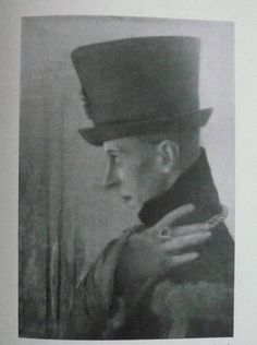 """Ernest Thesiger in the play """"Saint Joan"""" as the Dauphin, a part written for him by George Bernard Shaw, 1924. Photo from Thesiger's 1927 memoir """"Practically True."""""""
