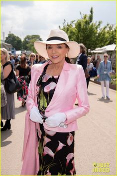 Spotted at Chelsea Flower Show: All the celebrities and VIPs Chelsea Flower Show, Nick Knowles, Imelda Staunton, Charlotte Hawkins, Kate Garraway, Joanna Lumley, Judi Dench, Joan Collins, Tv Presenters