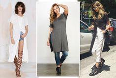 Shorts, jeans, alfaiataria... Oscomplementos da maxi tee são os mais variados (Foto: Reprodução Instagram)