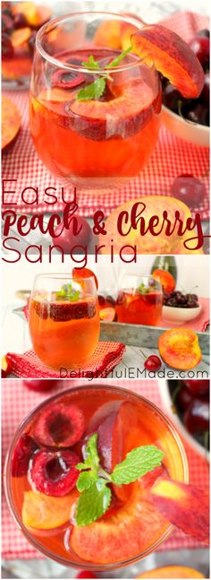 Craving a wonderfully refreshing fruity cocktail? My Easy Peach & Cherry Sangri… Craving a wonderfully refreshing fruity cocktail? My Easy Peach & Cherry Sangria is the perfect drink to mix for a party, shower or summer cookout. Sangria Party, Summer Sangria, Peach Sangria, Summer Drinks, Cocktail Drinks, Fun Drinks, Alcoholic Drinks, White Sangria, Summer Fun