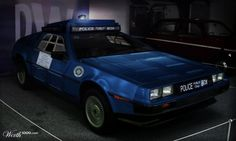 A TARDIS Themed Delorean