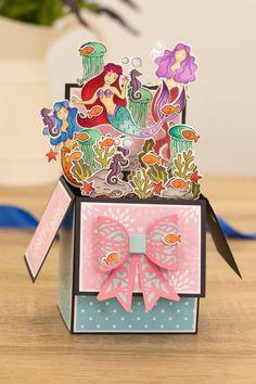 3D Pop Up Greeting Card Handmade Wedding Kids Birthday Water Spray Elephant