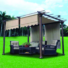 Pergola For Small Backyard Hot Tub Gazebo, Pergola Canopy, Backyard Pergola, Pergola Shade, Pergola Kits, Pergola Ideas, Patio Ideas, Timber Pergola, Pergola With Roof