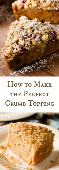 I'm obsessed with this crumb topping recipe! I use it on everything - crumb-topped pie, crumb-topped cobblers, crumb-topped scones, crumb-topped cakes. Well, you get the idea! Best Dessert Recipes, Easy Desserts, Sweet Recipes, Delicious Desserts, Cake Recipes, Dessert Sauces, Frosting Recipes, Dessert Ideas, Brunch Recipes