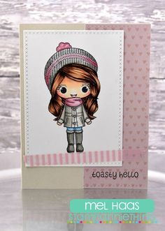 Mel is on the blog: http://stampanniething.blogspot.com/ using Annie and hse iall warm and toasty! #stampanniething #cre8time #stamping #crafts #cards