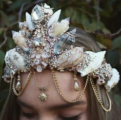 Sunshine mermaid crown by chelseasflowercrowns on Etsy                                                                                                                                                     More
