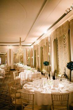 Claridges, London Winter Art Deco Ballroom Wedding  Read more - http://www.stylemepretty.com/2013/12/23/claridges-london-winter-art-deco-ballroom-wedding/