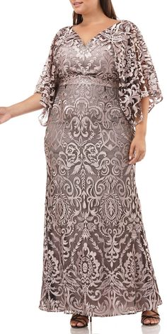 online shopping for JS Collections Embroidered Lace Evening Dress (Plus Size) from top store. See new offer for JS Collections Embroidered Lace Evening Dress (Plus Size) Plus Size Gowns, Evening Dresses Plus Size, Lace Evening Dresses, Plus Size Outfits, Evening Gowns, Mob Dresses, Fashion Dresses, Bride Dresses, Peplum Dresses