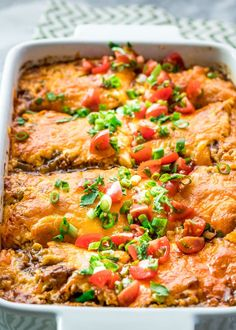 This Taco Lasagna is saucy, cheesy and delicious. Try thisfun twist on your traditional lasagna with lots of Mexican flavors, yet still an easy weeknight and family-friendly meal.