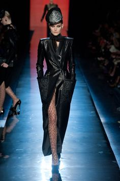 Loving this coat! Jean Paul Gaultier Fall 2013 Couture #blackcoat #jeanpaulgaultier