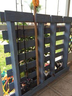 DIY pallet project Fishing Rod Holder