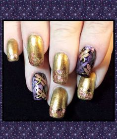 Metallic dragonfly nail art. Inspired by Robin Moses.