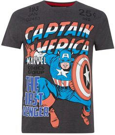 House of Fraser Men's Fabric Flavours Captain america t-shirt on shopstyle.co.uk
